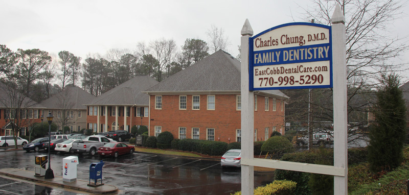 East Cobb Dental Care Sign on Johnson Ferry Road