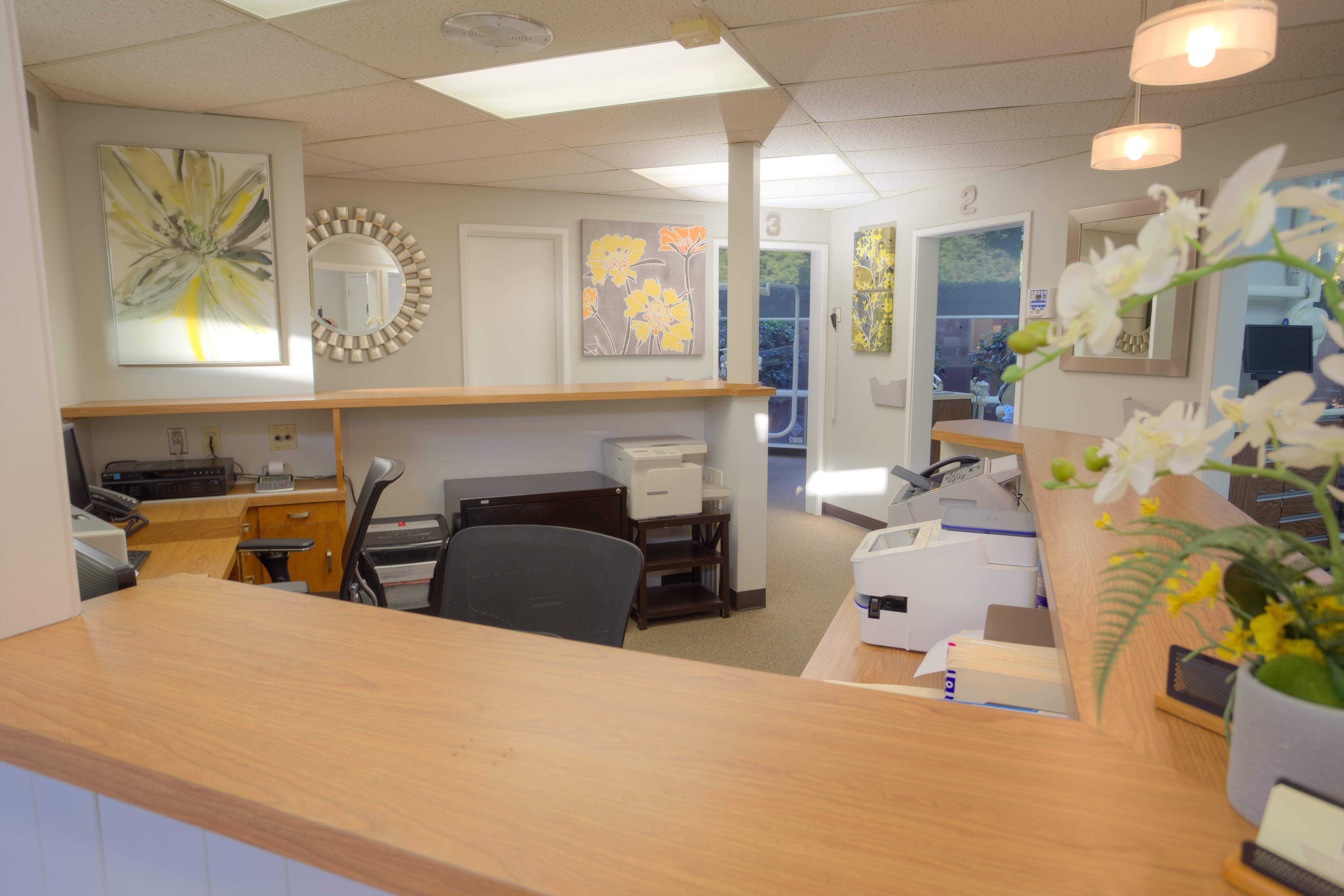 A picture of the front desk at Christopher and Anne Turlock, DDS in Turlock, CA