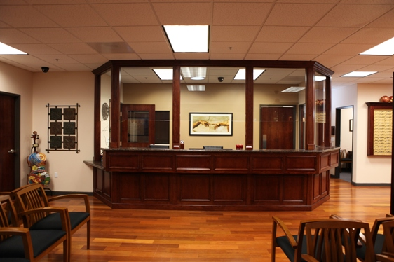 Welcome Desk at the Modesto Eye Center