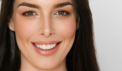 Young woman with healthy teeth smile