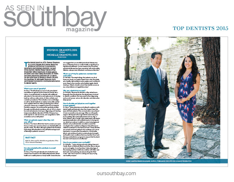 Steven K. Okamoto, DDS - South Bay Top Dentist 2015