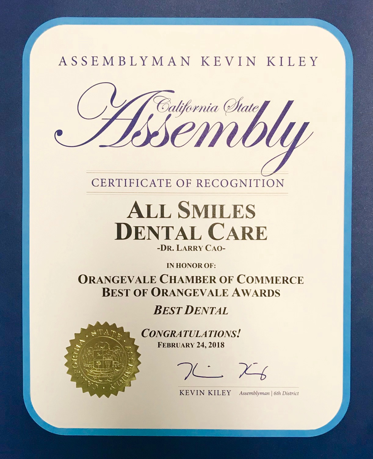 All Smiles Dental Care Dentist in Orangevale