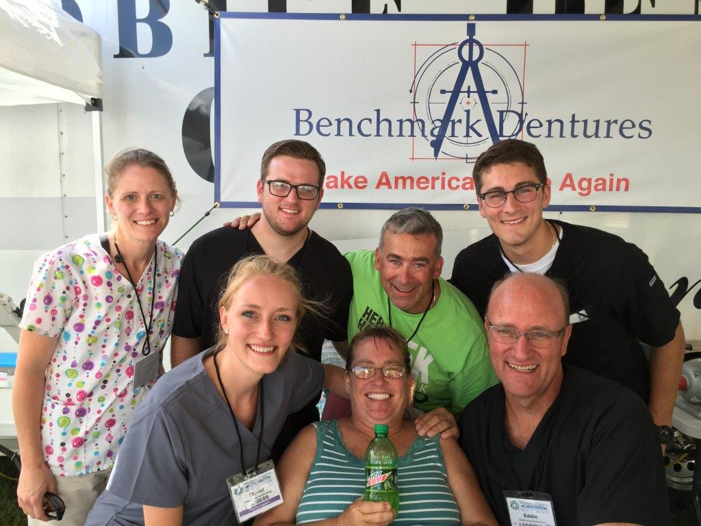 The dental team of Falls church dentist robert morabito participat in mission of mercy charity