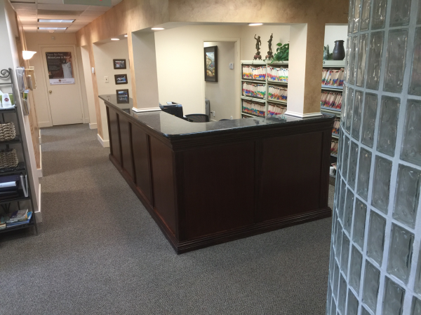 reception area in falls church dental practice