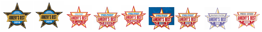 Ankeny Best Award Logos 2008 to 2016
