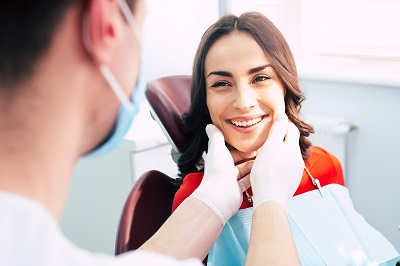 happy patient at the dental chair