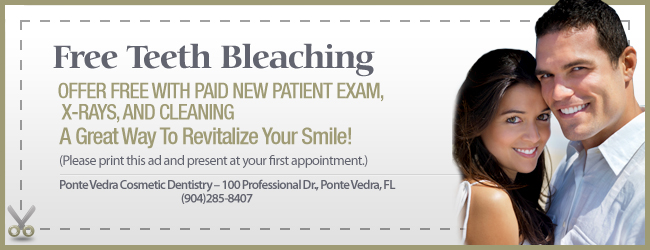 Ponte Vedra Dentist offers free teeth whitening