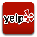 Yelp icon w/ link