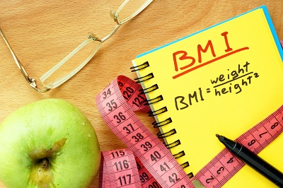 BMI body mass index formula rate formula in a notepad