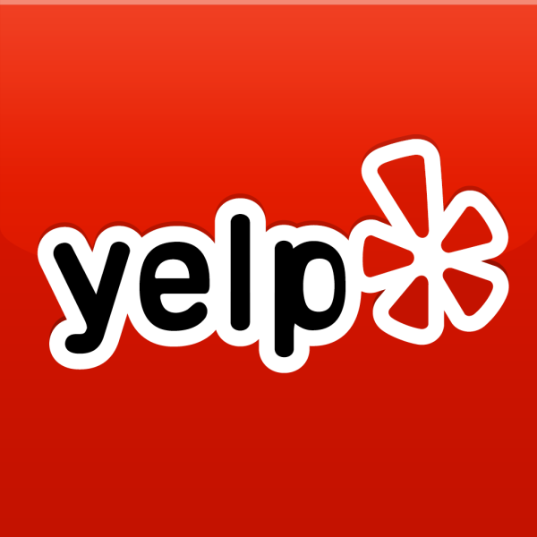 Yelp logo website link button