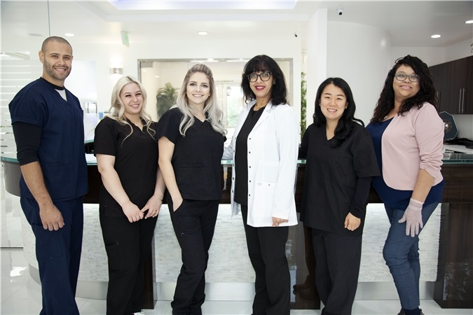 fullerton dental practice - team photo