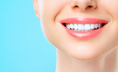Close up image of healthy smile