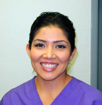 Claudia works at our dental offices in Stockton CA