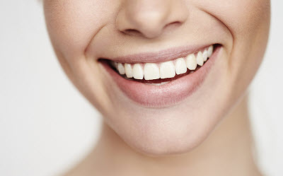 close up of healthy smile