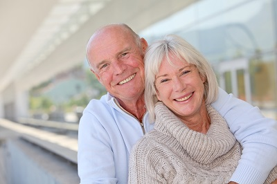 Portrait of smiling senior couple