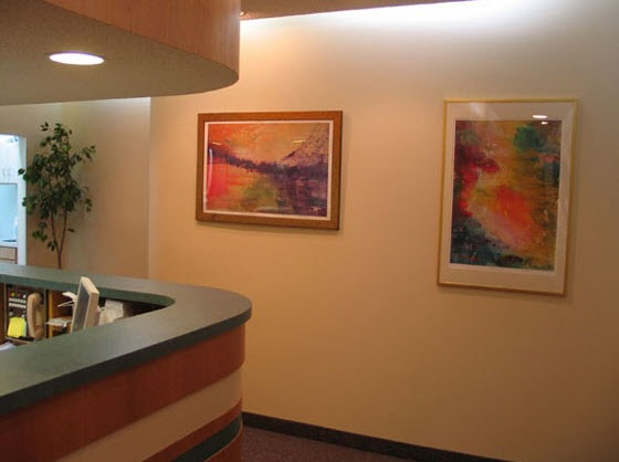 Dental Reception Wall with art