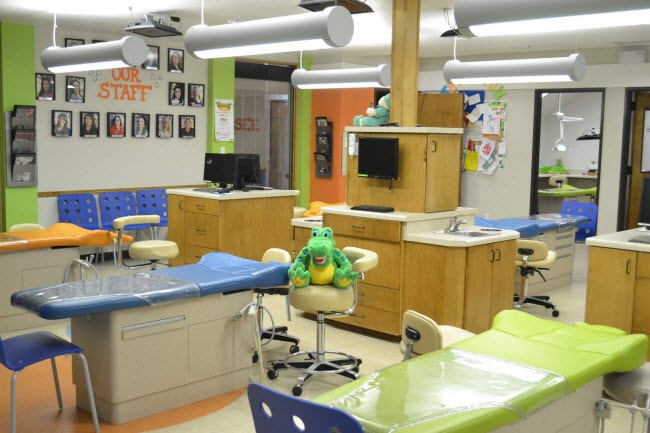 A look at our examination area at Alligator Dental a pediatric dentist located in Sequin, Texas.  Accepting new patients now!