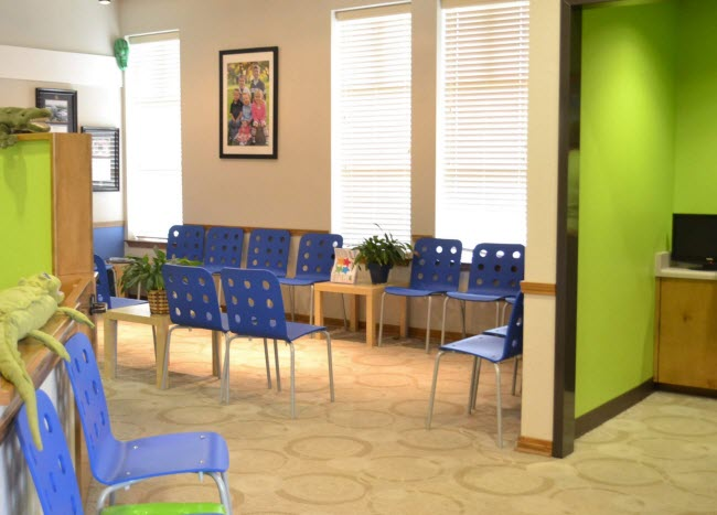 The Lobby at Alligator Dental, a pediatric dentist located in Sequin, Texas.  Accepting new patients now!