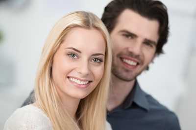 A you couples teeth shine after a teeth whitening visit to Callahan & Klein Dental