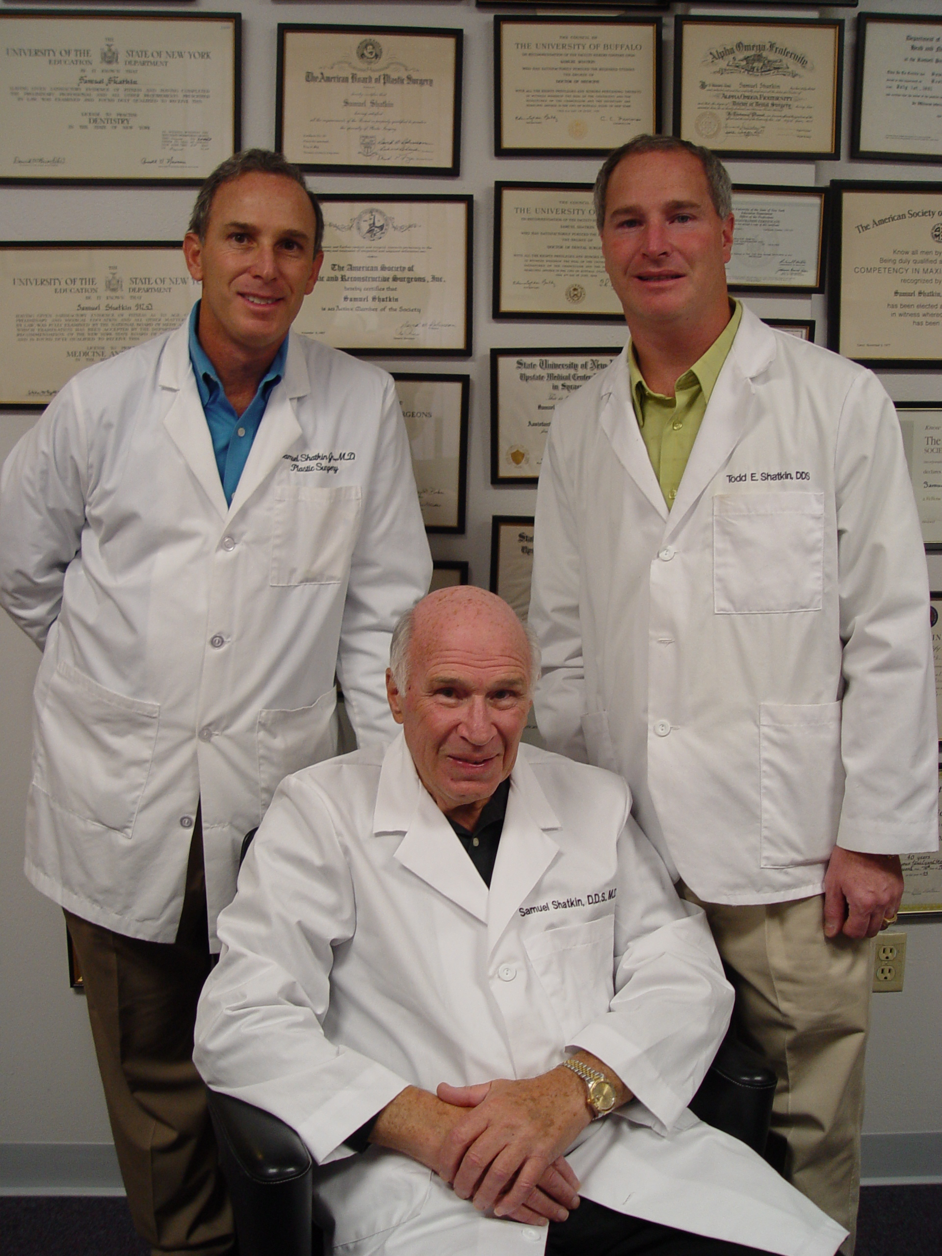 Plastic Surgeon and Cosmetic Dentist - Dr. Sam Shatkin Jr. and Dr. Todd Shatkin
