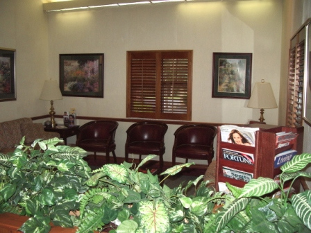 Ocala Cosmetic Dentistry Waiting Area