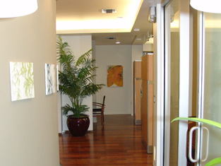 Fine Dentistry's interior resembles a spanish courtyard with the center point being our consultation room.