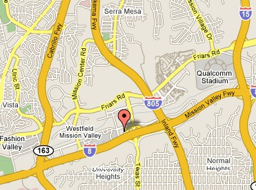 small map showing the location of 2020 Camino Del Rio N Ste 808, San Diego, CA 92108